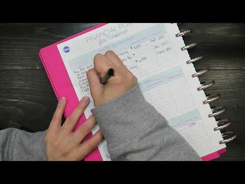 Setting Up My Financial Plan, Spending Overview & Bill Tracker in My Budget Planner