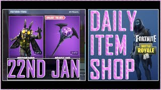 Fortnite: Daily Item Shop 22 janv. 2019 - OMEN - MOTHMANDO Featured Skin - Battle Royale New Items