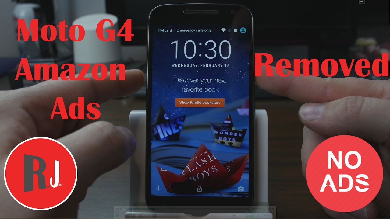1678c5d072da2d How to Remove the Lock Screen Ads from the Amazon Moto G4 - YouTube