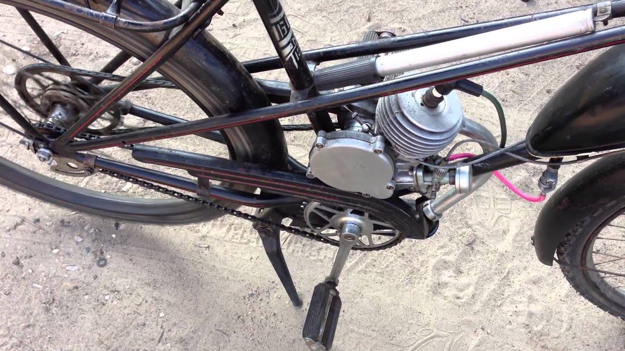 Самодельный мопед двигатель Д8 !!!! - YouTube