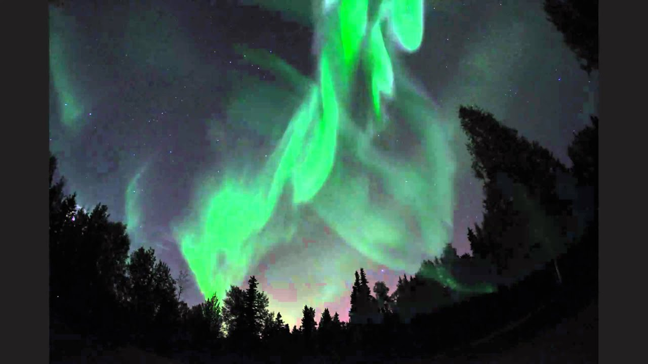 Northern Lights In Fairbanks, Alaska (2 September 2010)