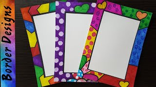 Britto Border designs on paper border designs project work designs borders for projects