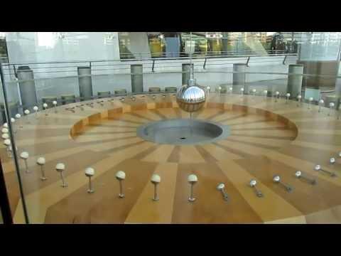 Foucault pendulum, Príncipe Felipe Science Museum, City of the Arts and Sciences, Valencia, Spain