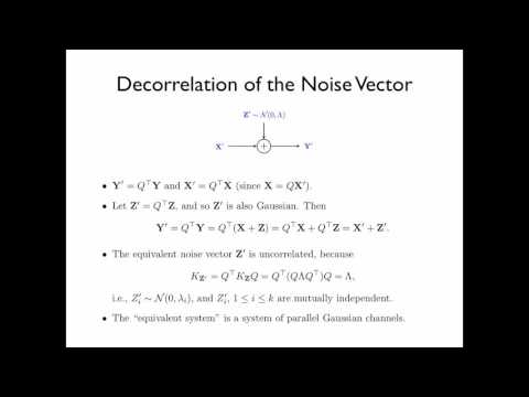 Chapter 11 Continuous-Valued Channels - Section 11.6 Correlated Gaussian Channels