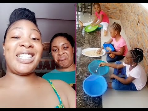 Download Bidemi Kosoko give her sister,Sola's Kids Funny punishment 4trouble they caused during this lockdown