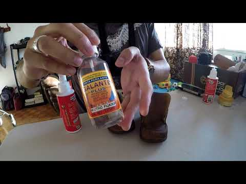 AMSR Cleaning nubuck shoes/AMSR limpiando zapatos de nubuck