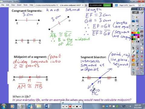 Apply Midpoint Formula Part 1