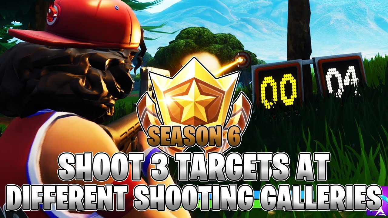 Shooting Gallery Locatios: Shoot 3 Targets At Different Shooting Galleries LOCATIONS