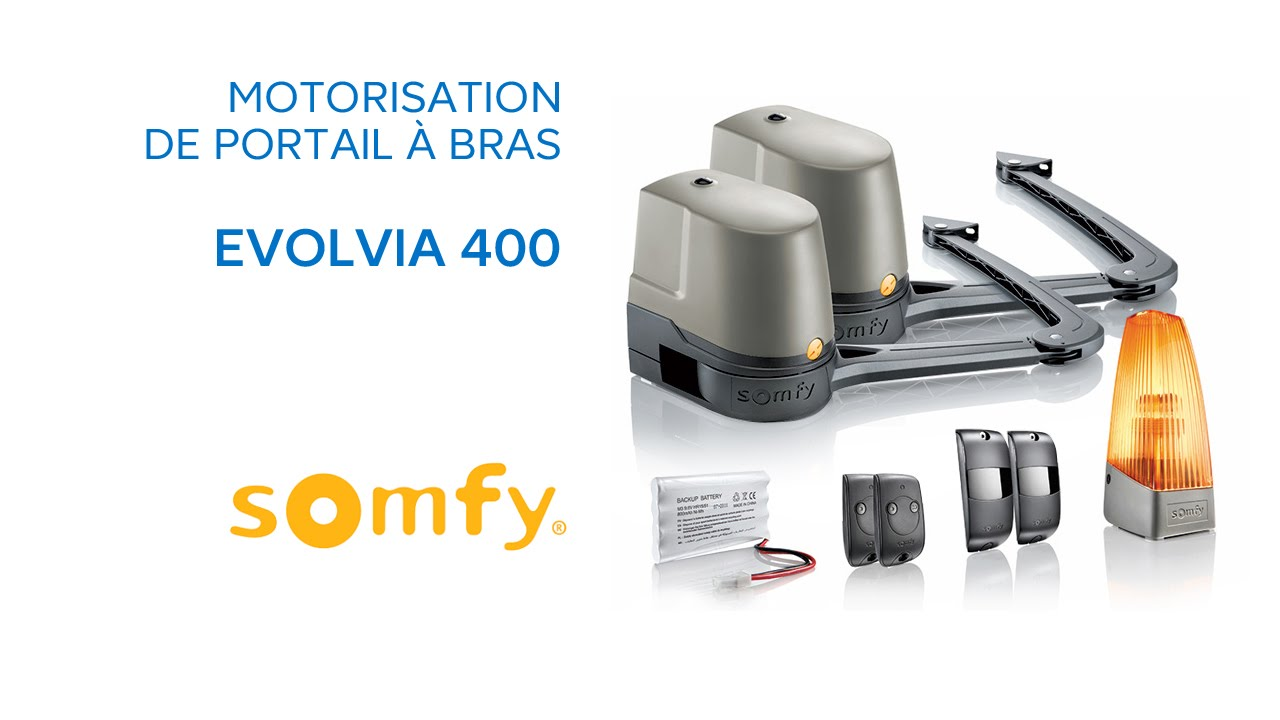 motorisation de portail bras evolvia 400 somfy 588514 castorama youtube. Black Bedroom Furniture Sets. Home Design Ideas