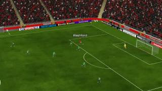 Man Utd mot Southampton - 67 minutter  - Pogba assist to Rashford