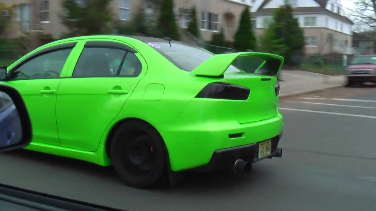Green Evo X In New Jersey Youtube