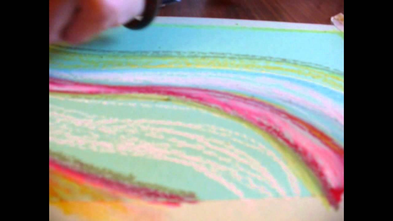 disegno con pastelli a olio sakura recensione  YouTube