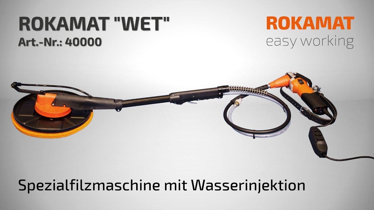 Putzbearbeitungsmaschine/ Filzmaschine mit Wasserinjektion ROKAMAT WET