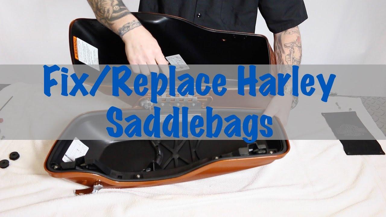 How To Replace Harley Davidson Saddlebags Lid Parts Motorcycle 2014 Saddlebag Speaker Wiring Diagram Biker Podcast Youtube