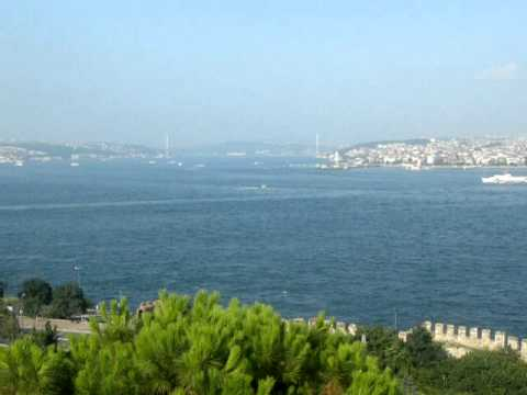 The Bosporus strait from Topkapi Palace Terrace, Istanbul, Turkey