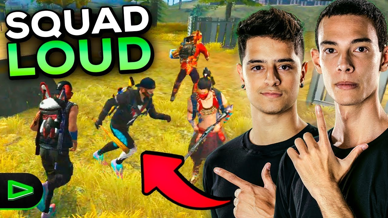 A PRIMEIRA RANQUEADA DO SQUAD DA LOUD NO FREE FIRE!!!