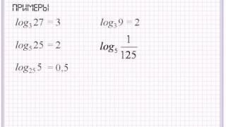 Логарифм числа. Основное логарифмическое тождество