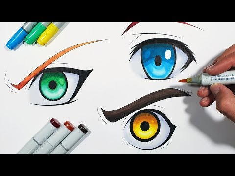 How To Draw EYES! - Step By Step Tutorial - EASY Method!