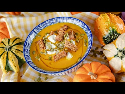 ТЫКВЕННЫЙ СУП ПЮРЕ | самый вкусный рецепт! 🧡 суп из тыквы + веганский вариант | Pumpkin Soup