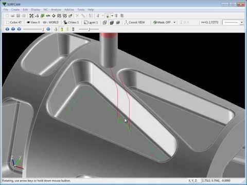 SURFCAM Tutorial - Introduction to 5-Axis Swarf