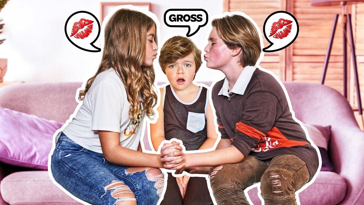 My Little Brother THIRD WHEELS MY DATE With MY CRUSH **ANNOYING CHALLENGE** 😒 |Hayden Haas