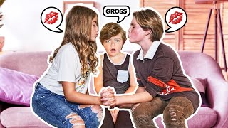 My Little Brother THIRD WHEELS MY DATE With MY CRUSH **ANNOYING CHALLENGE** 😒  Hayden Haas
