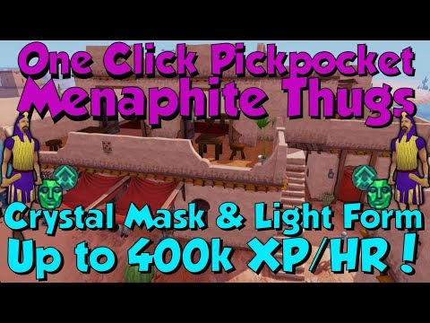 Up to 400k Thieving XP/HR! Menaphite Thugs [Runescape 3] Crystal Mask &  Light Form