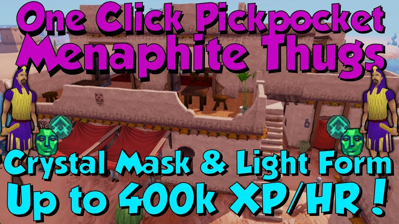 Up to 400k Thieving XP/HR! Menaphite Thugs [Runescape 3] Crystal ...
