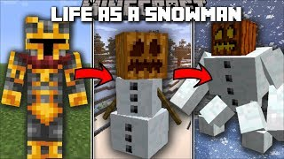 Minecraft LIFE AS A SNOWMAN MOD / FREEZE UP EVERYTHING AS YOUR MORPH INTO A SNOWMAN!! Minecraft