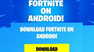 Fortnite download for Android
