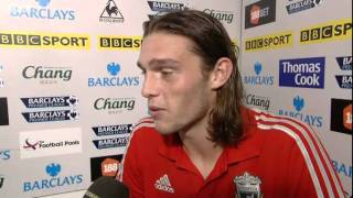Liverpool striker Andy Carroll delighted with derby goal