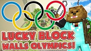 Minecraft LUCKY BLOCK WALLS MOD BATTLE! - Minecraft Modded Lucky Block Olympics Round 3