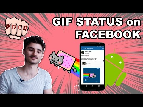 Post GIF Status on Facebook with voice over