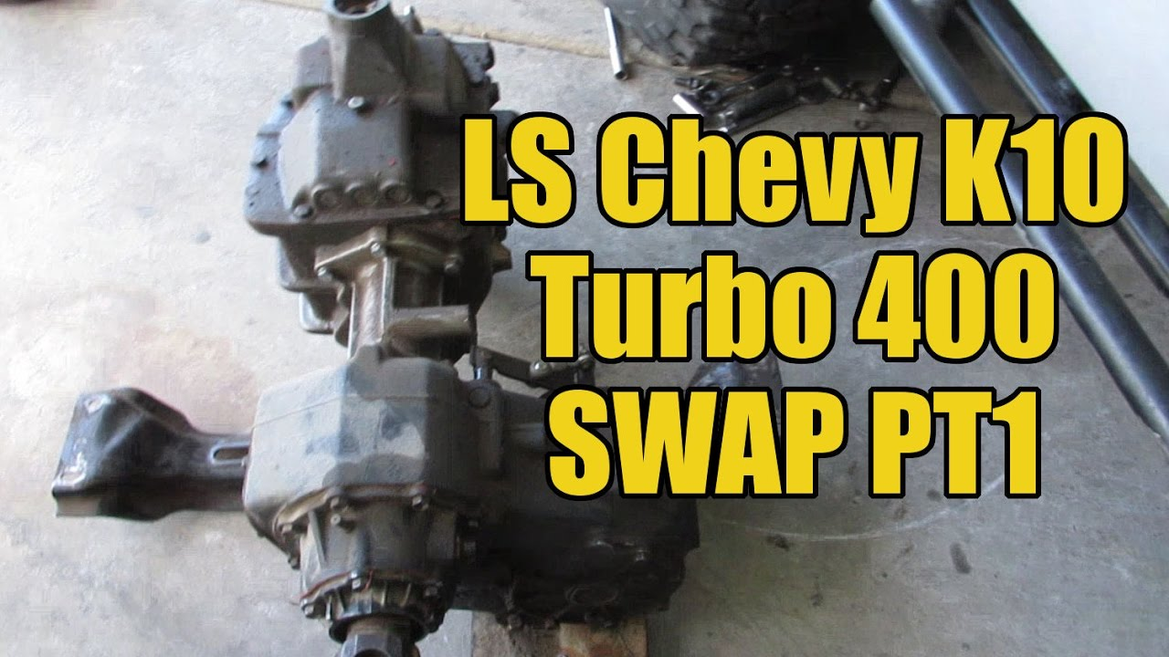 LS Chevy K10 - TH400 Swap pt1 - SM465 out!