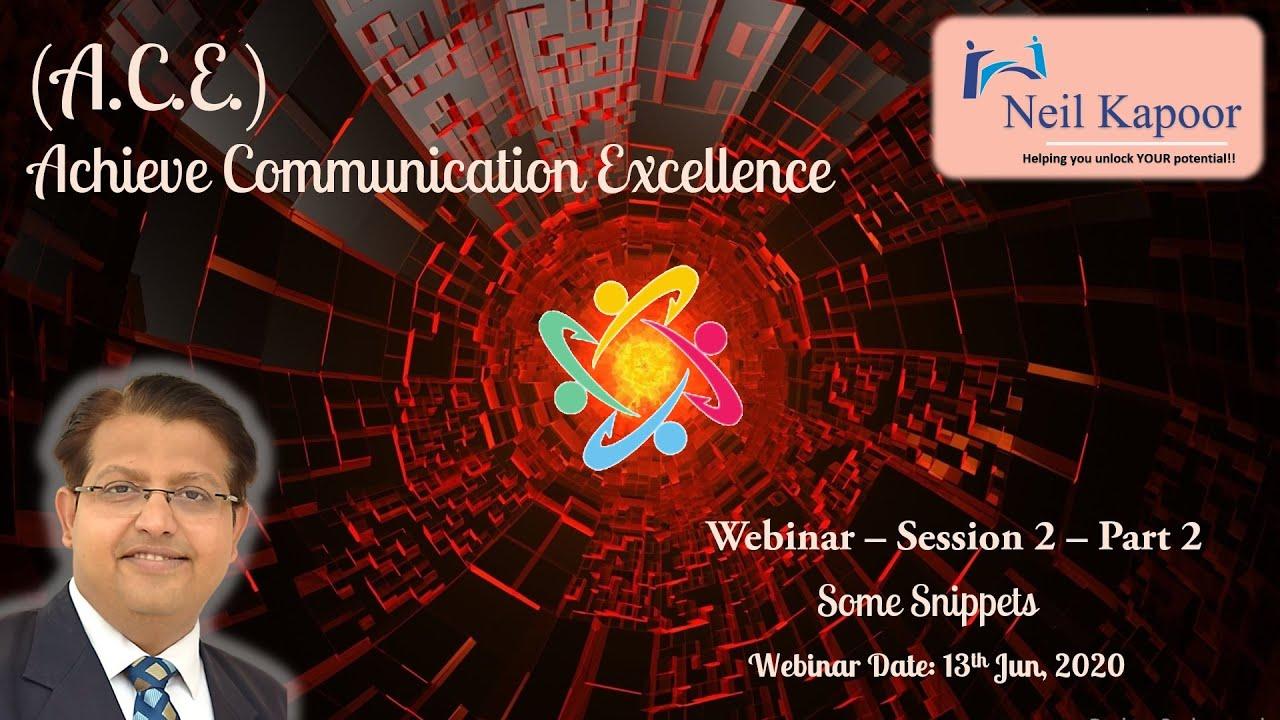 Achieve Communication Excellence Webinar 2 Part 2