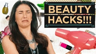 BEST BLOW DRYING HAIR HACK EVER!? | Hacktually