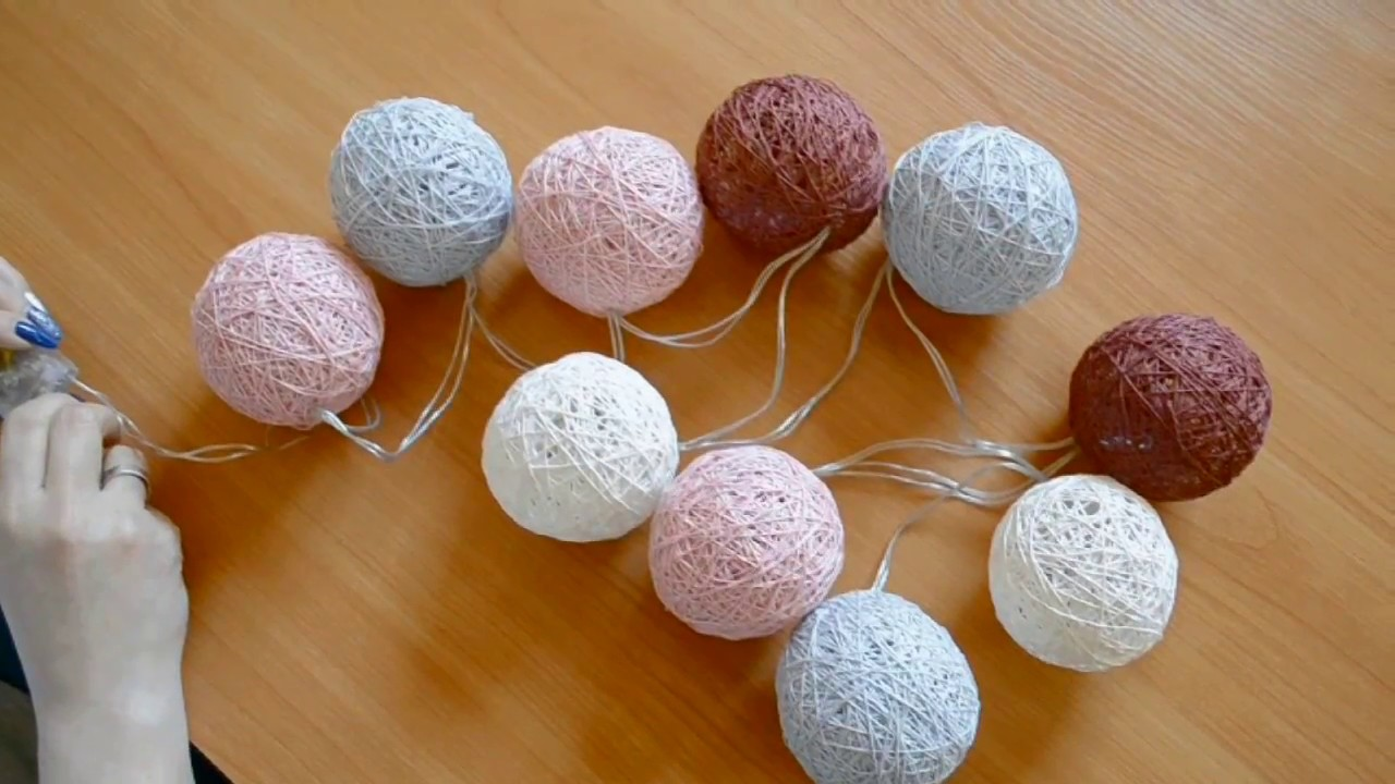 Kule świetlne Cotton Balls