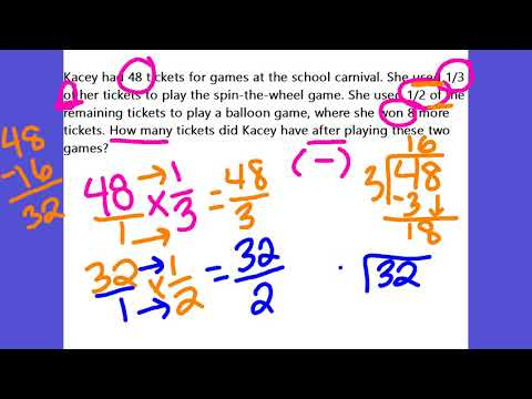 Annotations of Rational Number Word Problems