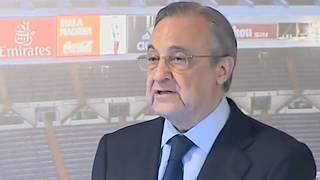 Florentino Pérez presenta a Lopetegui cargando contra Rubiales