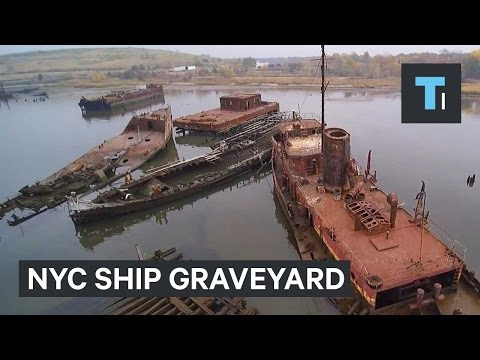 The incredible story behind a creepy ship graveyard in New York City