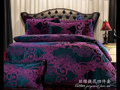 dark purple comforter