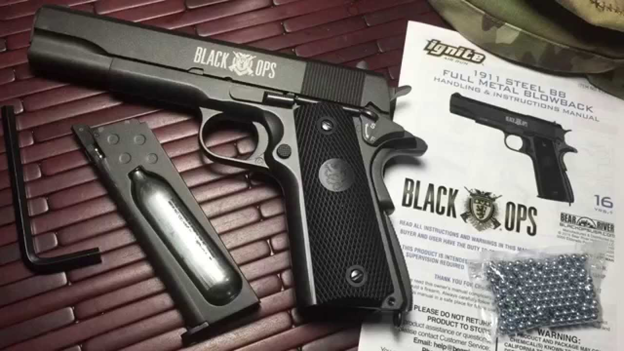 Black Ops Full Metal 1911 CO2 BB Gun - YouTube