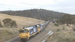 6000HP battling the Cullerin Range : Australian trains and railroads