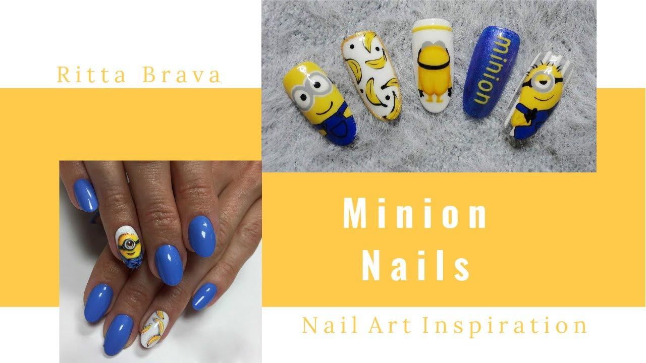 Minion Nails - Despicable Me Nail Art Designs - YouTube