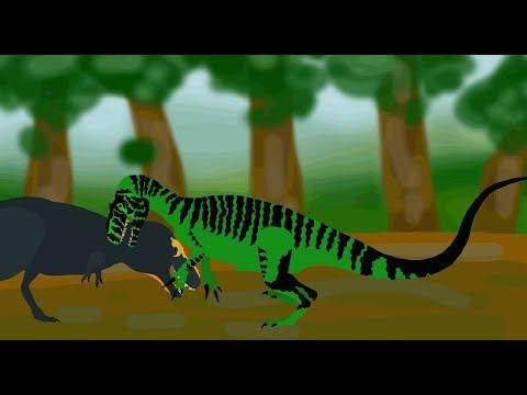 Quick Fights - Tarbosaurus vs Saurophoganax ( 2/3 )