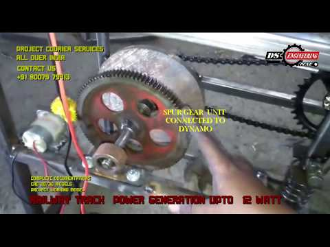 ELECTRICITY GENERATION FROM RAILWAY TRACK MECHANICAL ENGINEERING PROJECT NEW / LATEST