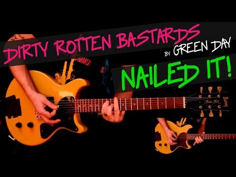 Dirty Rotten Bastards - Green Day guitar cover by GV