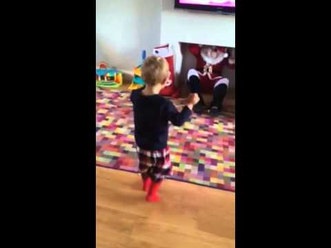 3aae29367a Father Christmas   Santa Claus Coming down the chimney - YouTube