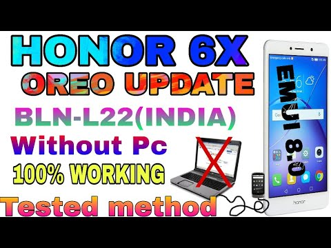 Update honor 6x to oreo emui8 0 without pc 100% working method