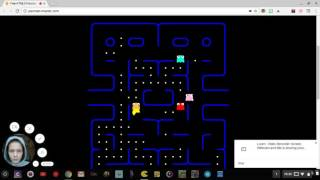 playing pacman ! :)